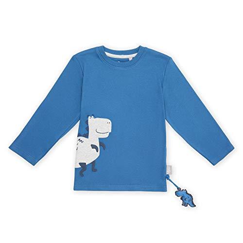 Sigikid Baby-Jungen Mini Langarmshirt aus Bio-Baumwolle, Größe 098-128 Pullover, Blau/Dino, 98