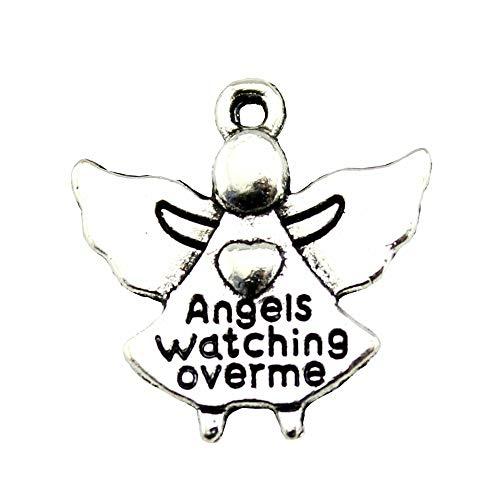 WYSIWYG 30 Piezas Encanto Amuletos para Hacer Joyas Ángeles Me Vigila