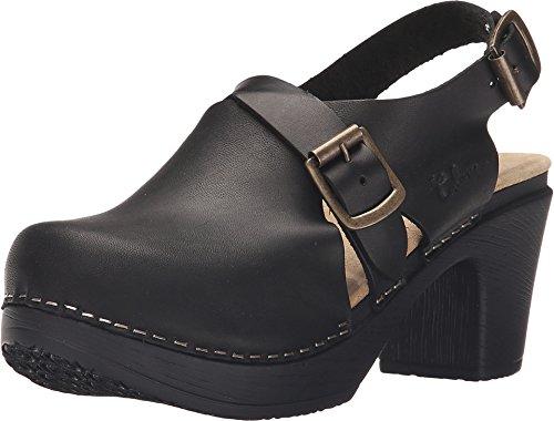Calou Stockholm Clog Soft High Heel - Swedish Clogs- Woman Sandal Astrid Black (Black, Numeric_37)