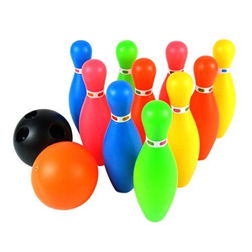 STOBOK Bowlingkugel Spielzeug Kleine Plastik Bowlingkugeln Set Lustige Indoor Familiensportspiele