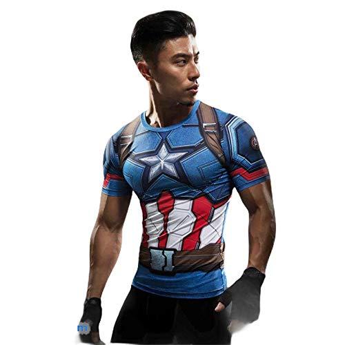 Camiseta 3d Super Herois Capitao America (M)