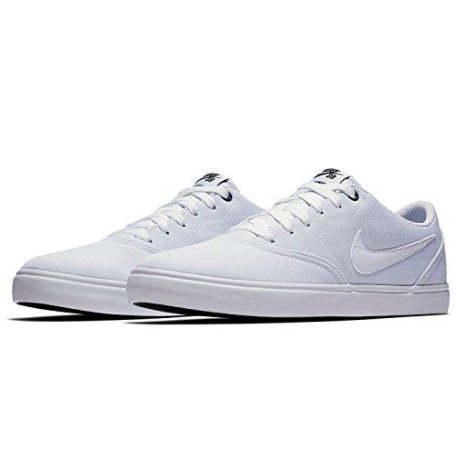 Nike SB Check Solar Cnvs, Zapatillas de Skateboarding para Hombre, Blanco (White/White/Black 110), 38.5 EU