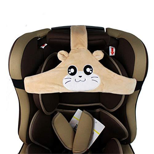 Feelairy Baby Autositz Kopfband, Kindersitz Befestigung Kopfband Einstellbare Baby Kopfstützgurt Kopfstützhalter Sicherheitssitz Befestigungsgurt für Kinder Baby (Braun)