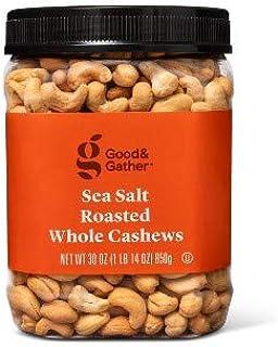 Sea Salt Roasted Whole Cashews - 30oz - Good & Gather