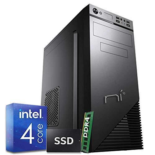 PC DESKTOP COMPUTER FISSO INTEL QUAD CORE 2.7GHZ RAM 8 GB DDR4 SSD 240 GB DVD HDMI WIFI COMPLETO ASSEMBLATO CON SISTEMA OPERATIVO WINDOWS 10 PRO