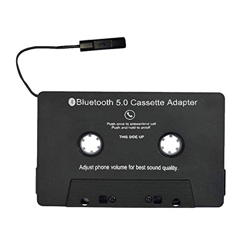 Ganquer Umwandeln Auto Answer Handy Kassetten Adapter Audio USB Laden Bluetooth Praktische Auto Kassettenspieler Adapter - Schwarz, Free Size