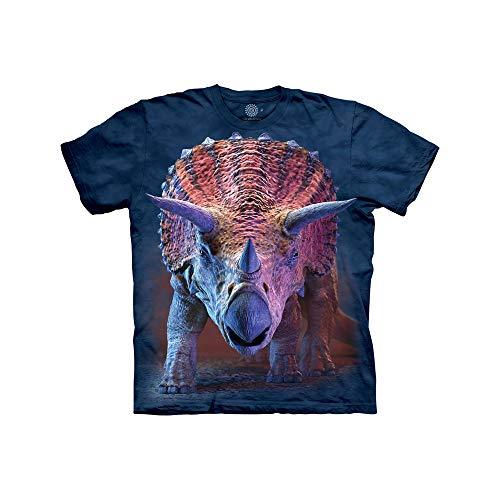 The Mountain Camiseta Unisex para niños de Carga Triceratops, Unisex niños, Camiseta, 153562, Azul, S