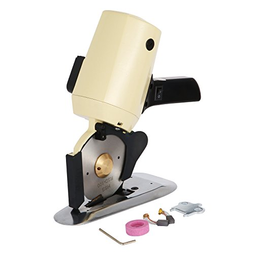 Mophorn Electric Cloth Cutter 4 Inch Rotary Blade Fabric Cutting Machine Octagonal Knife Electric Rotary Cutter 250W Cutter Scissors for Multi Layer Cloth Leather Wool Cutting
