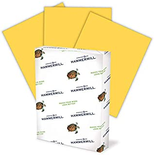 Hammermill Colored Paper, 20 lb Goldenrod Printer Paper, 8.5 x 11-1 Ream (500 Sheets) - Made in the USA, Pastel Paper