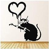 azutura Ratten Herz Banksy Graffiti Street Art Wandtattos Heim Dekor Art Decals verfügbar in 5 Größen und 25 Farben X-Groß Moos Grün