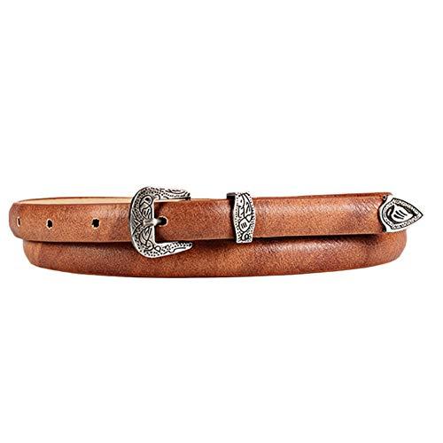 RelaxLife Mujer Vestido Cinturón Mujeres con Estilo Retro Espeleología Cinturón Hebilla Cinturones Cinturón De Cinturón De Cinturón De Cinturón De Cuero Jeans Ve