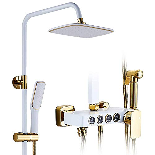 Z-LIANG Ducha de montaje en pared de alta presión de la ducha de lluvia del grifo del cuarto de baño moderno baño de ducha Mezclador de ducha anti escalda manguera de mano de ducha Cabeza de pulveriza