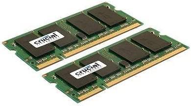 Crucial CT2KIT25664AC800 200-pin SODIMM DDR2 PC2-6400 CL=6 Unbuffered NON-ECC DDR2-800 1.8V 256Meg x 64