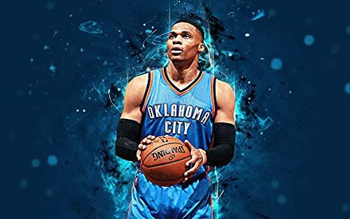 KJHJKH Rompecabezas Madera 1000 Comprimidos,Superestrella del Baloncesto de la NBA de Westbrook,Puzzle Creativo,La Mejor Decoración para El Hogar De Bricolaje (75 x 50 CM)