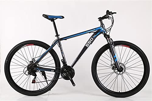 Juventud / Adulto 21-SPEET 29inch Viento roto Ruedas Ruedas Bicicleta de montaña multifuncional, suspensión delantera de la bicicleta de montaña, colores múltiples, pedales de resina antideslizante, m