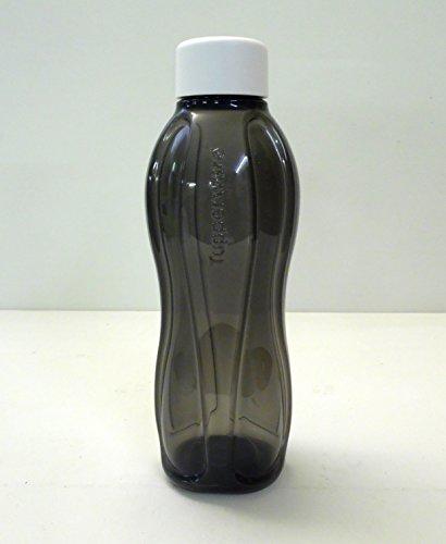 TUPPERWARE To Go Eco 1,0L Trinkflasche EcoEasy C138 Flasche Öko Ökoflasche schwarz Schraubverschluß weiß