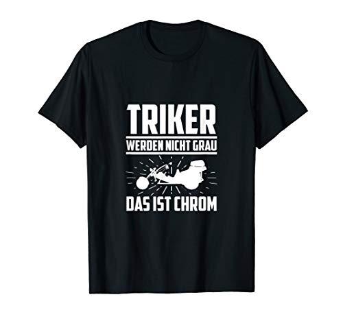 Herren Trike Triker Motorrad Dreirad Geschenk T-Shirt