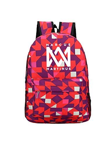 WangMaZi Backpack school bag Marcus&martinus Hip hop Electronic sound Commuter bag Travel bag, large capacity Student gifts Luminous 45 * 31 * 14CM