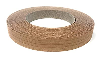 "Cherry Wood Veneer Edgebanding Preglued 3/4"" X 50' Roll - High Quality - Made in USA"