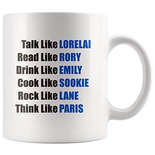 NA Taza Hablar como Lorelai Leer como Rory Beber como Emily Cook como Sookie Rock como Lane Taza...