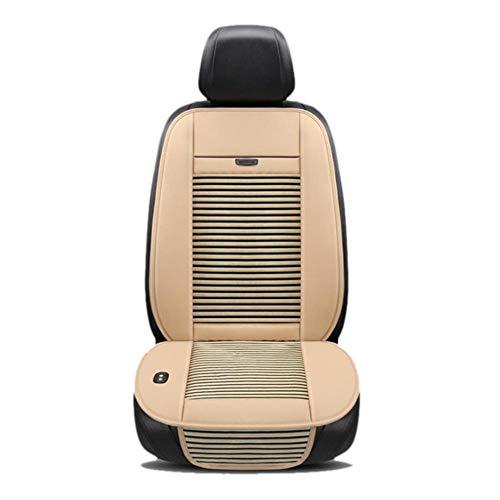 Ecoticfate Auto Sitzauflagen Gesetzt Klima Kühlung Vordersitze Sommer Universelle12V Kühlsitzkissen Lüfter Klimaanlage Sitzkissen-EIS-Silk Sommer Atmungsaktiv Kühler Pad 112x48cm