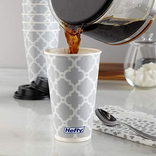 Hefty Disposable Hot Cups with Lids, 16 Ounce, 20 Count