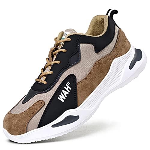 Zapatos de Trabajo Zapatos de Seguridad Zapatos de Trabajo Toe Toe TRIPANTADORES Hombre Mujer Transpirable PUNTURA-A Prueba de Zapatillas Protectoras industriales (Color : 40)