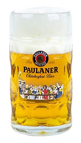 Paulaner Dimpled Isar Beer Mug - 1 Liter Mass Krug (Oktoberfest 'Festzelt' Edition)