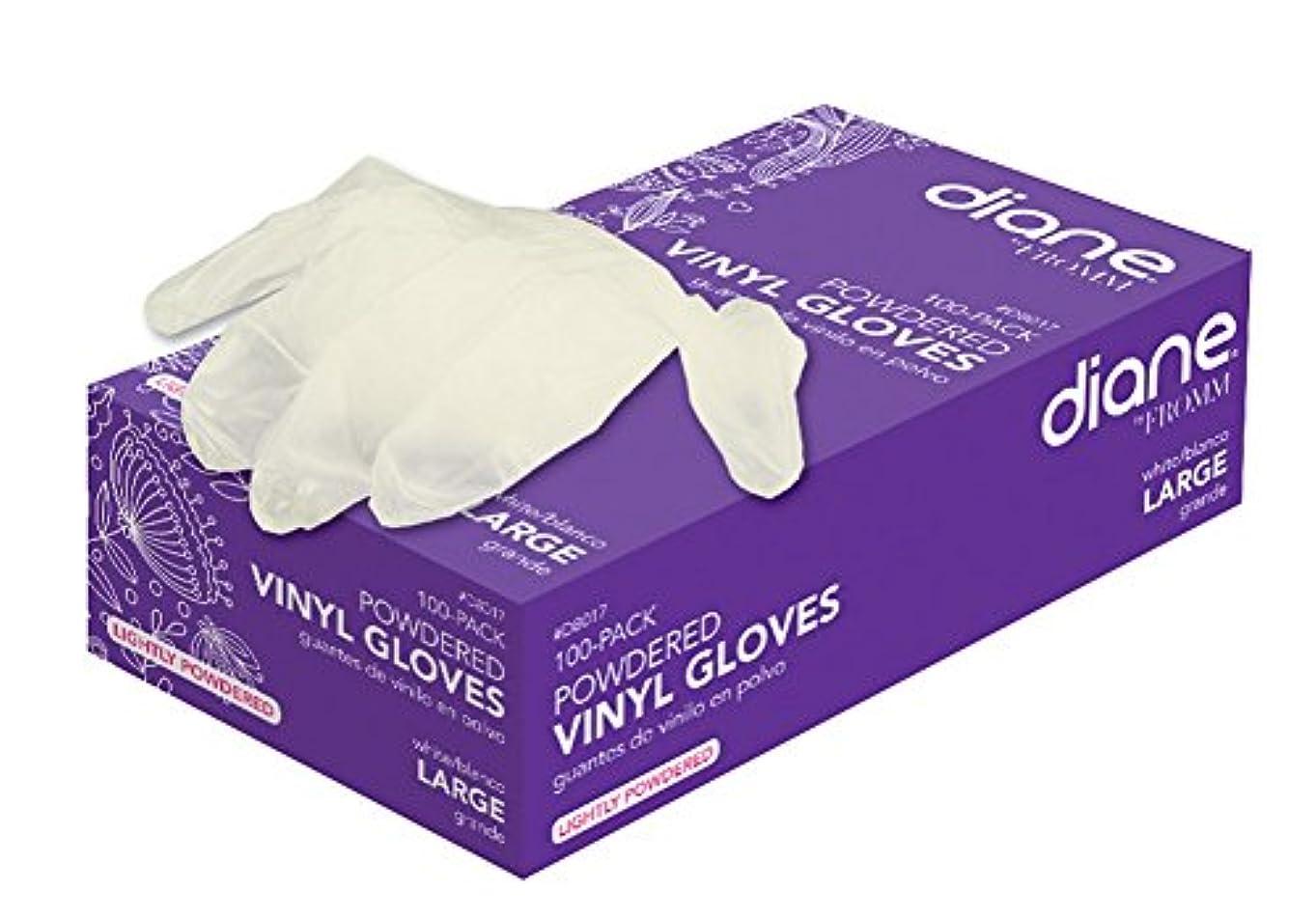 描く推定する蒸留Diane D8015ビニール粉末手袋で - 小さい