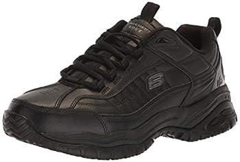 Skechers for Work Men s Galley Sneaker,Black,8.5 W US