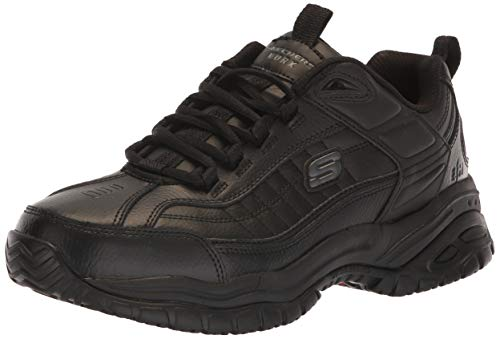 Skechers for Work Men's Soft Stride Galley Sneaker,Black,10.5 W US