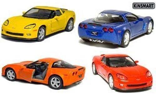 Set of 4  5  2007 Chevy Corvette Z06 1 36 Scale (Blau Orange rot Yellow) by Kinsmart