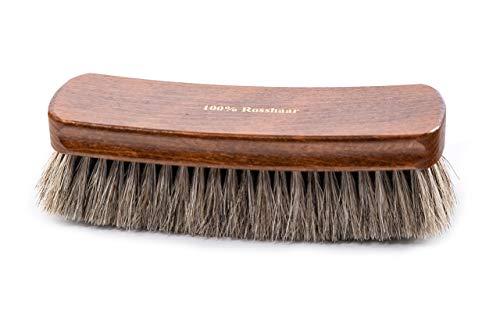 Lenzen extra große Schuhbürste I Maxi Glanzbürste mit 100% Rosshaar I Polierbürste für den perfekten Glanz Ihrer Schuhe (hell)