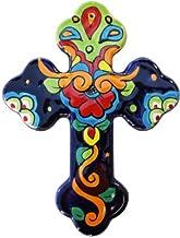 Rainbow Large Talavera Mexican Cross