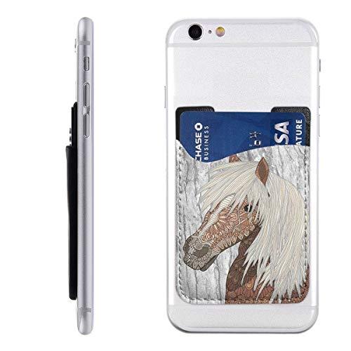 Haflinger Paard Telefoon Kaarthouder Stick Op Mobiele Telefoon Portemonnee Voor Credit Card, visitekaartje ID En Sleutels, Telefoon Pocket Voor Alle Telefoons