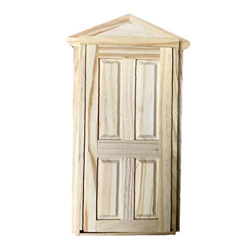 Puppenhaus Tür, DIY Simulation Puppenhaus Holztür Simulation Möbel Spielzeug für Puppenmöbelzubehör