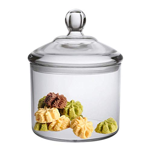 Premium Quality Acrylic Food Jar, Cookie Jar With Airtight Seal Lid, Break-Resistant, BPA-Free, 38 Oz