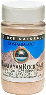 Source Naturals Himalayan Rock Salt by Crystal Balance Fine Grind, Mineral-Rich Alkalinizing Gourmet Salt