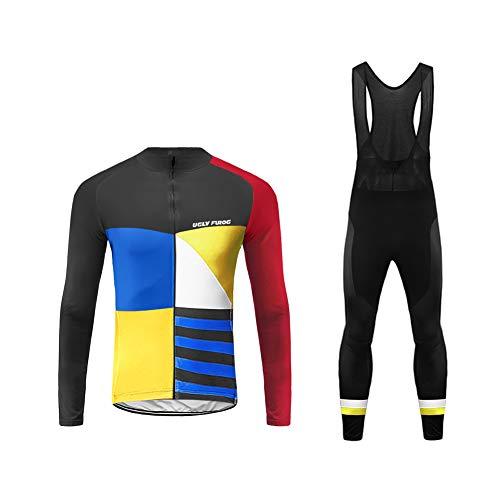 Uglyfrog 2019 Nuovo Completo Ciclismo Abbigliamento Inverno Panno Termico Set di Abbigliamento Ciclista Maniche Lunghe Antivento Ciclismo Maglia + 3D Pantalone Imbottito ZRMX09