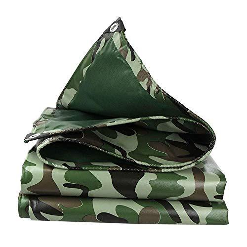 Lona de camuflaje de 500 g m² – Cubierta impermeable para pesca al aire libre 2 x 1,5 m (color: A Tamaño: 2 & x 4 m)