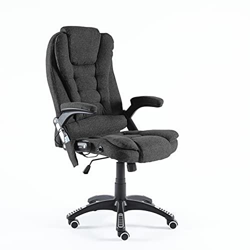 Neo Silla reclinable de piel sintética para videojuegos de oficina y oficina (tela – gris oscuro)
