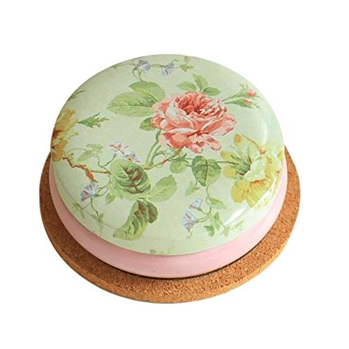 AWAING Botes Herméticos Misceláneas del Round Box Coin café portátil Forma Estilo del Dibujo Flor de té de azúcar de la Lata de almacenaje de Cocina (Color : E)