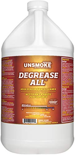 Unsmoke Degrease-All Professional Cleaner Degreaser, High Performance Concentrate, Removes Greasy Soils and Smoke Residue, 1 Gal.