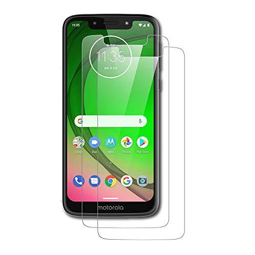 AICEK [2-Pack Protector de Pantalla Moto G7 Play, Cristal Templado para Motorola Moto G7 Play Vidrio Templado Moto G7 Play Cristal Screen Protector (5,7 Pulgadas)