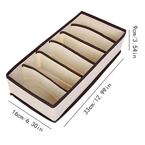 30 Grid Bra Underwear Socks Socks Storage Organizer Box Non-Woven Fabrics Foldable Large Capacity Bedroom Box Closet Wardrobe,6 Grid