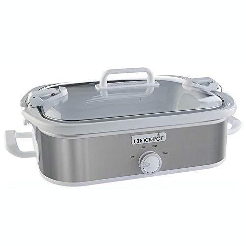 Crock-Pot 3.5 Quart Home Casserole Crock Kitchen Slow Cooker, Stainless Steel