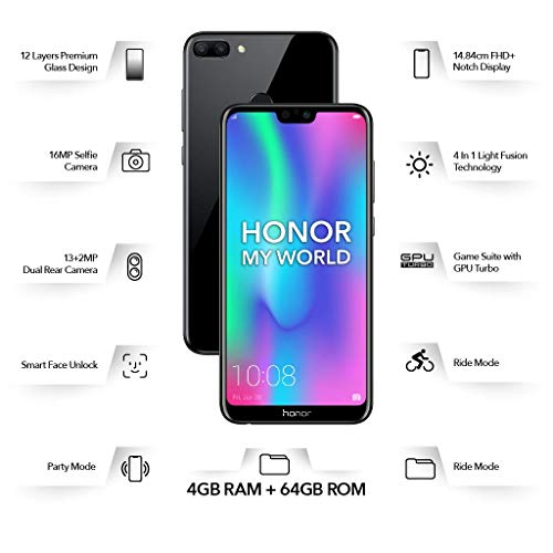 Honor 9N (Black, 4GB RAM, 64GB Storage)
