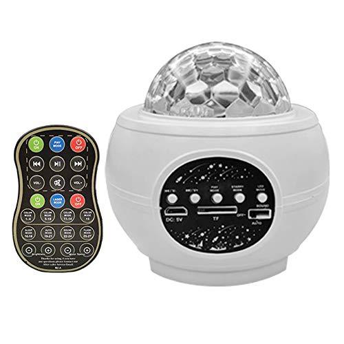 MERIGLARE Bluetooth Starry Light Proyector Star Sky Speaker Player - Blanco