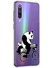 Oihxse Cristal Compatible con Xiaomi Mi MAX 3 Funda Ultra-Delgado Silicona TPU Suave Protector Estuche Creativa Patrón Panda Protector Anti-Choque Carcasa Cover(Panda A10)