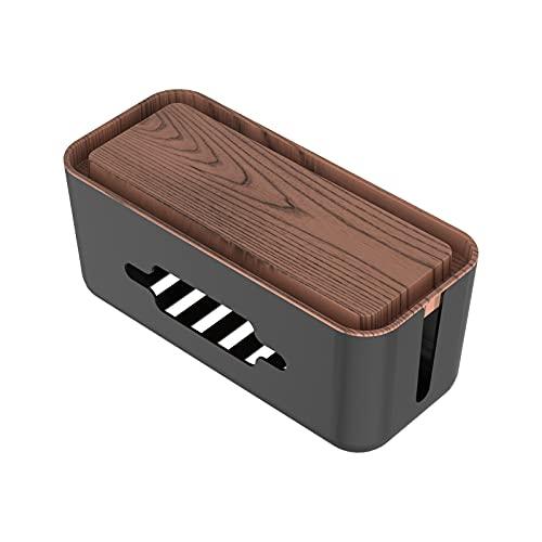 Caja Organizadora de Cables, NTONPOWER Caja Cables de Escritorio para Organizador Cables...